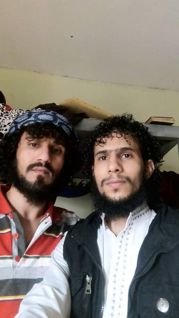 Mohammed und sein Freund Ammar Sewar